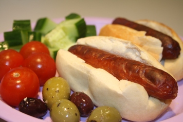 Blog - hot dogs and salad munchies