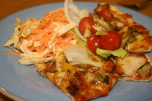 Blog - plate of pizza and salad