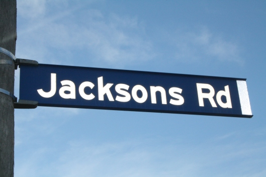 Jacksons Road Sign