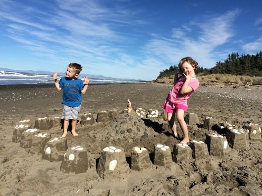BLog - sand castles on the beach